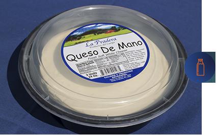 envase de queso de mano