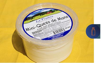 envase de mini queso de mano